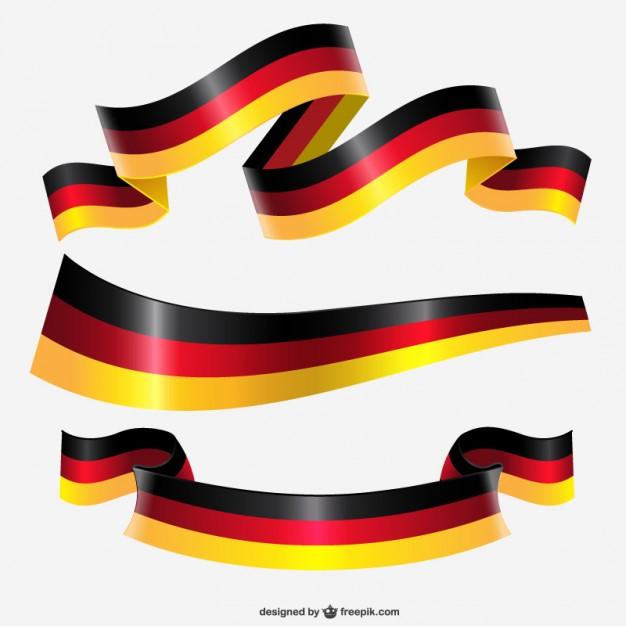 Germany ribbon flag