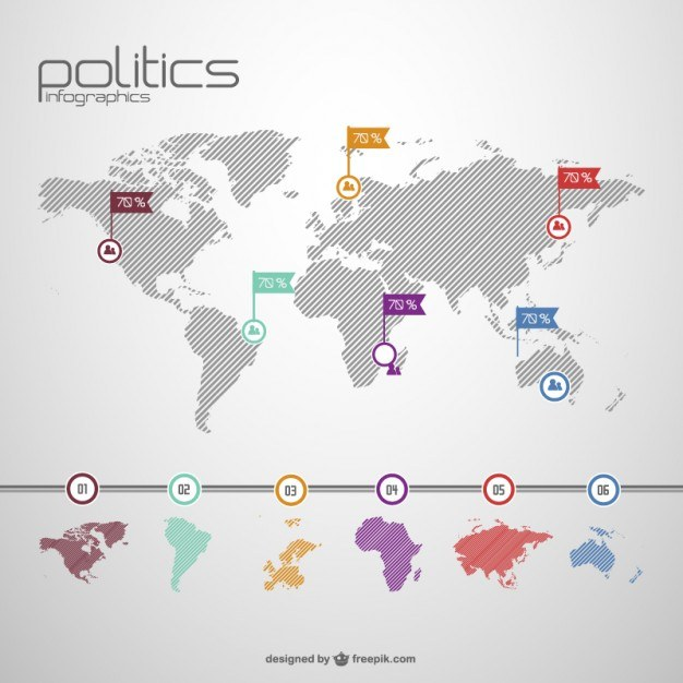 Global politics free template for information graphic  Vector | Free Download