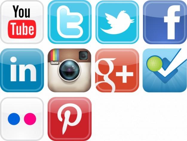 Glossy social media icons vector set  Vector   Free Download