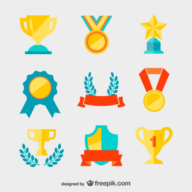 Golden medals and trophies vector  Vector | Free Download