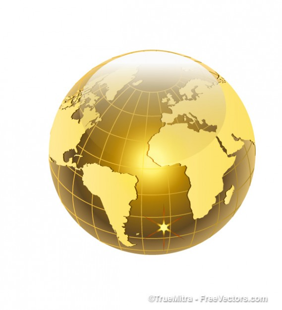 golden world with atlantic ocean view  Vector | Free Download