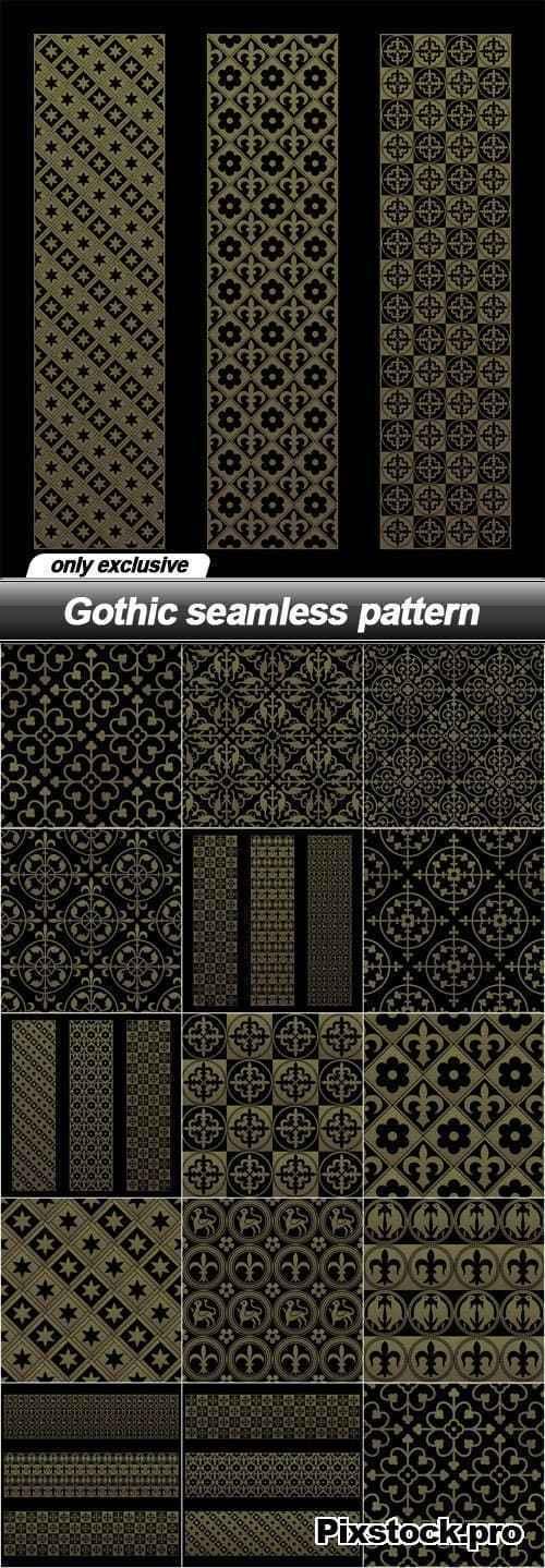 Gothic seamless pattern – 14 EPS