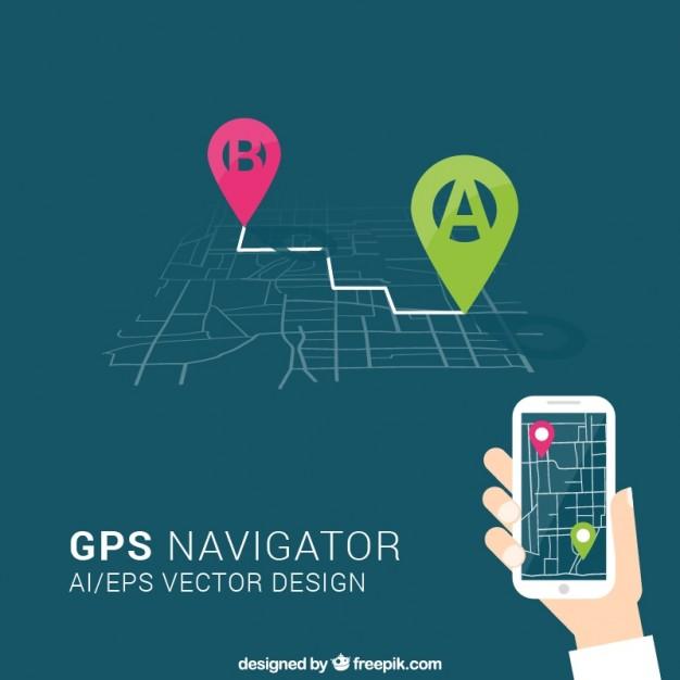 gps navigator  Vector   Free Download