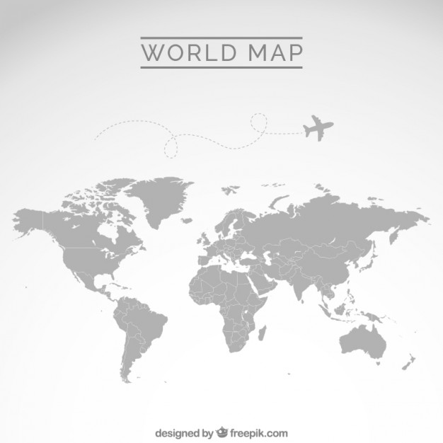 Gray world map  Vector | Free Download