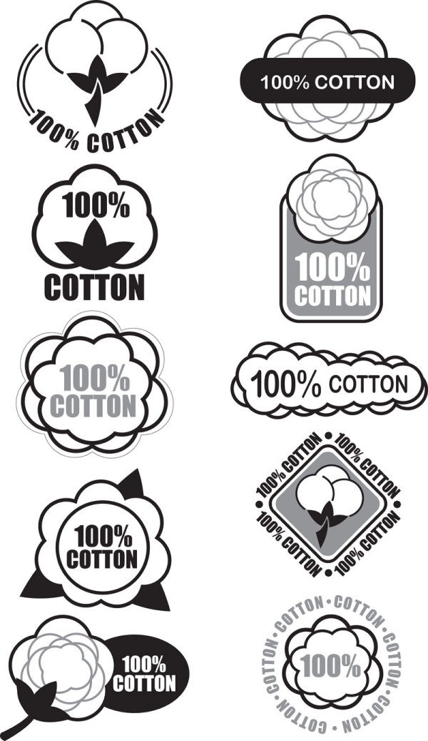 Guaranteed 100% cotton vector Label 03