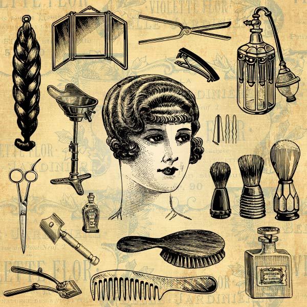 Hair Salon | Mens Haircut | Beauty and Barber Design Elements