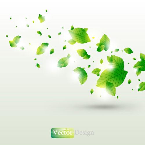Halation leaf background 02 vector