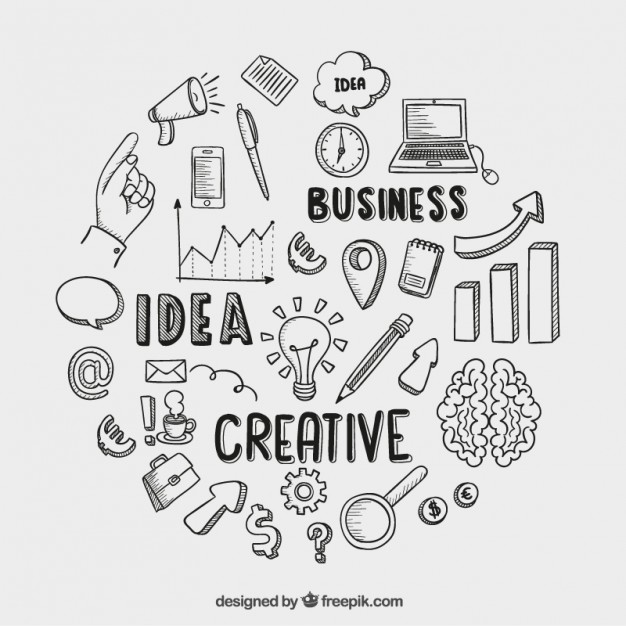 Hand drawn business icons  Vector | Free Download