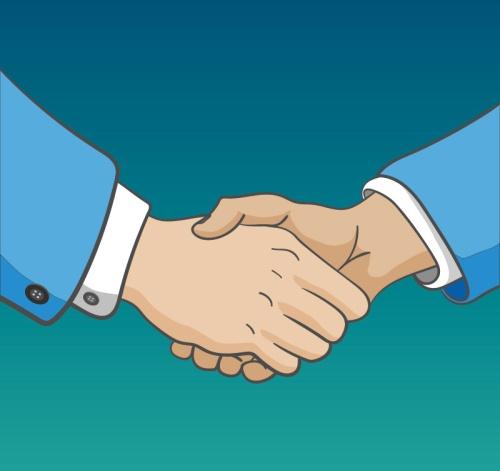 Handshake arm design vector material