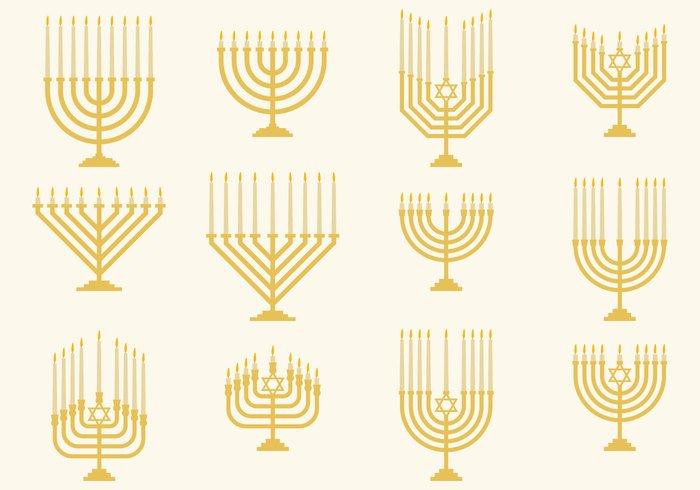 Hanukkah Monorah Vectors
