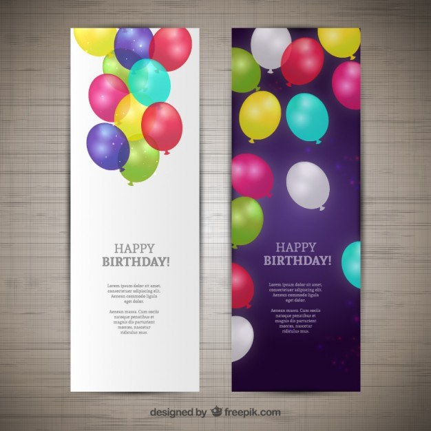 Happy birthday banners  Vector | Free Download