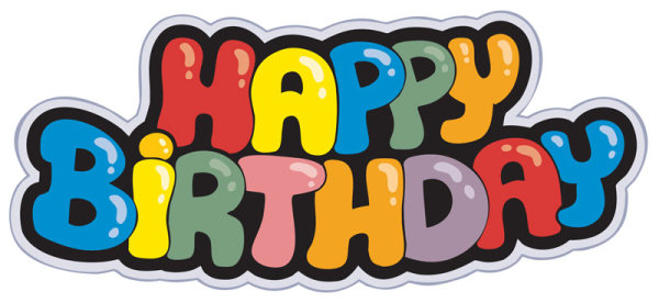 Happy Birthday design elements free vector 06