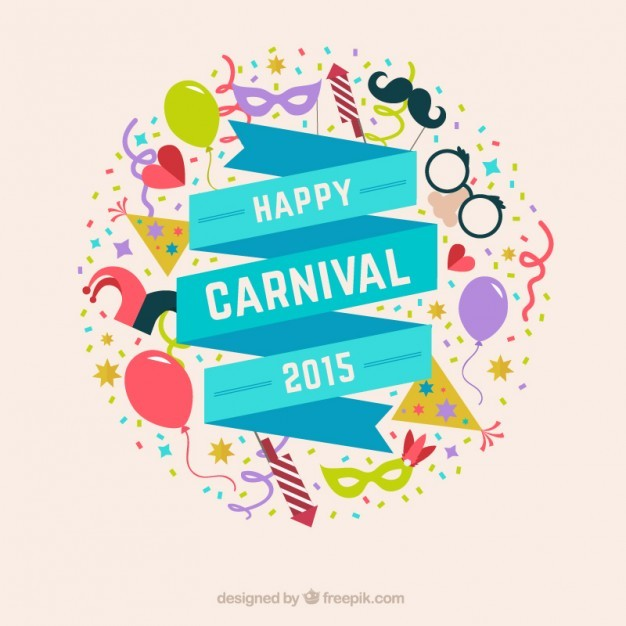 Happy carnival ribbon