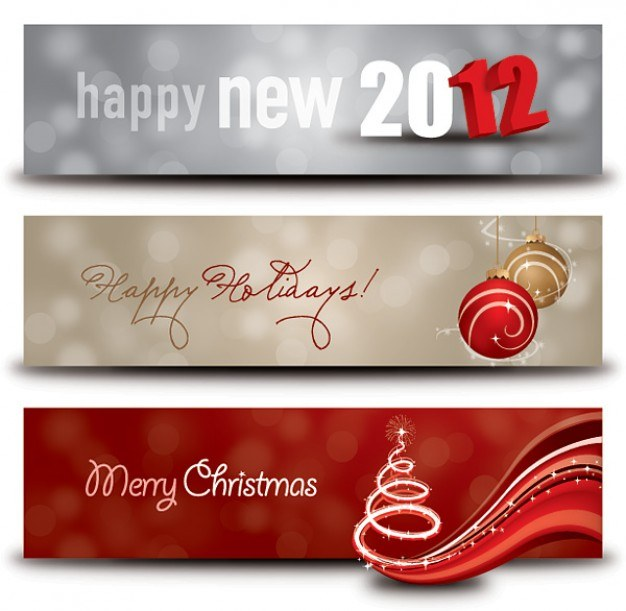 Happy Holidays Banners  Vector | Free Download