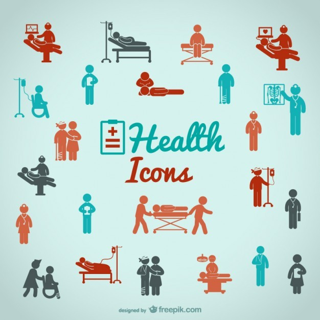Health people icons   Vector | Free Download