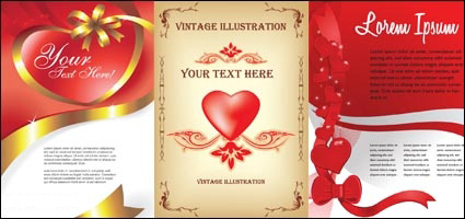 Heart card vector material