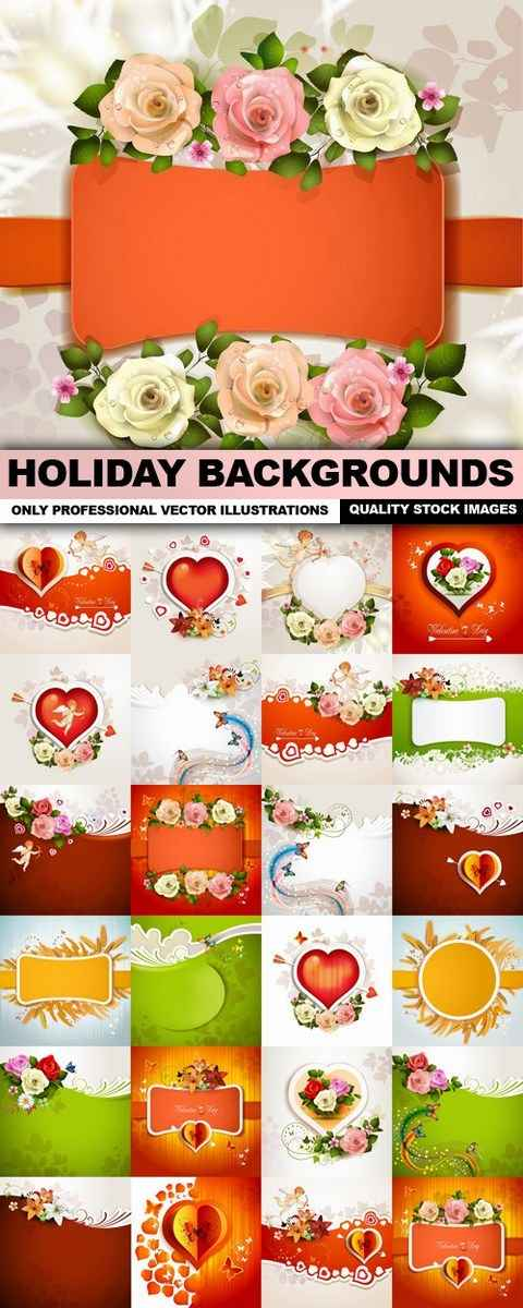 Holiday Backgrounds – 25 Vectors