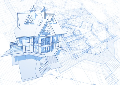 House architecture blueprint vector set 05