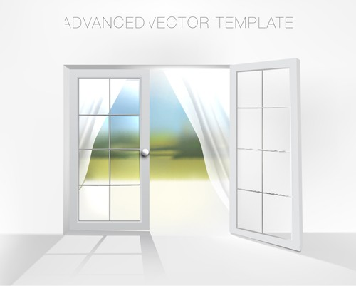House interior corner background vectors set 10