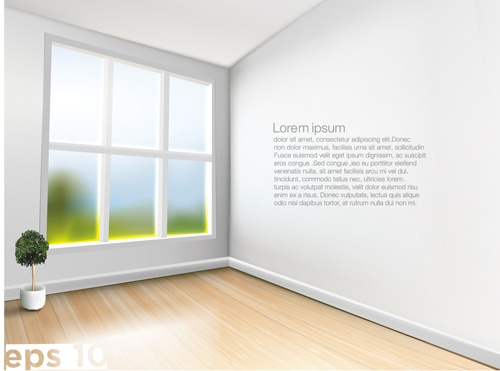 House interior corner background vectors set 06