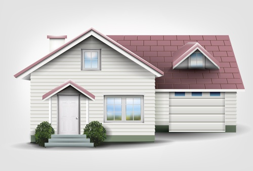 House interior corner background vectors set 04