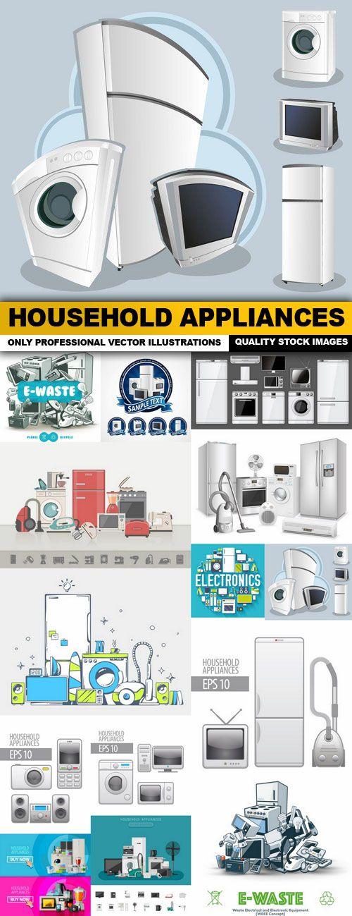 Household Appliances – 14 Vector