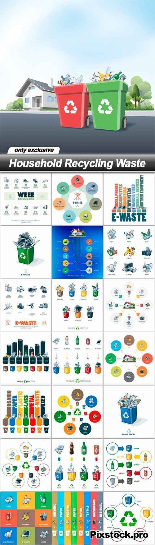 Household Recycling Waste – 22 EPS