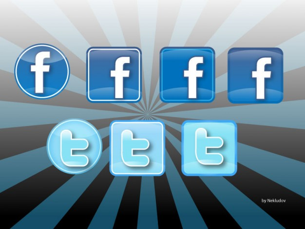Iconos Twitter & Facebook  Vector | Free Download
