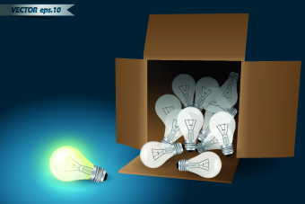 Idea infographics with Bulb vector graphic 01