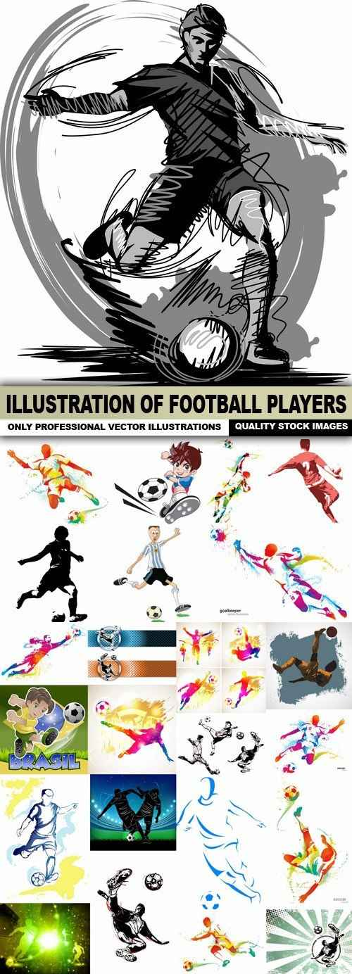 Illustration Of Football Players – 25 Vector