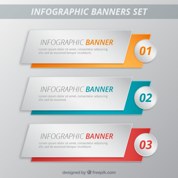 infographic banners template pack  Vector   Free Download