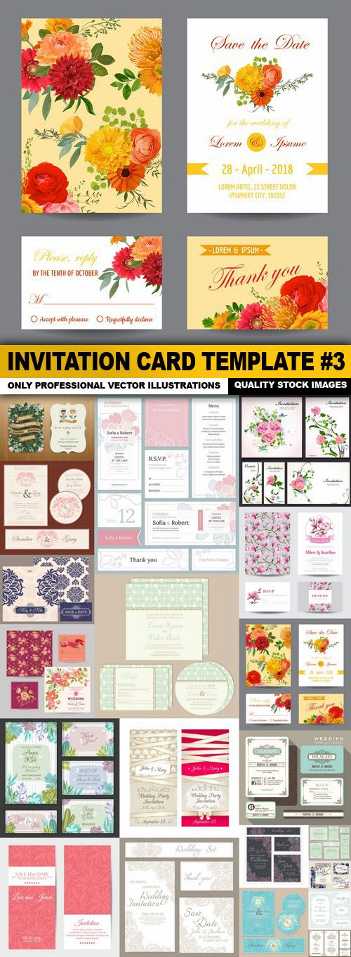 Invitation Card Template #3 – 20 Vector