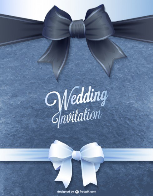 Invitation card vector wedding style