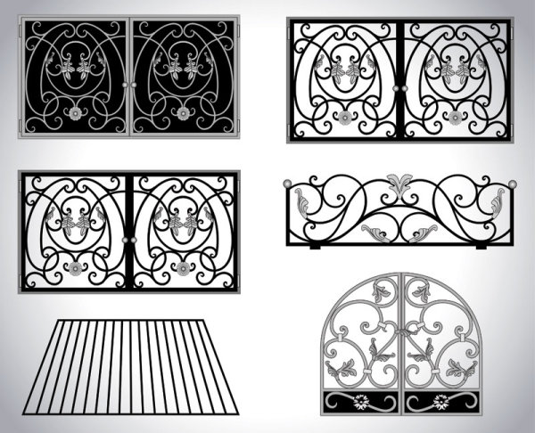 Iron window Style vector 02
