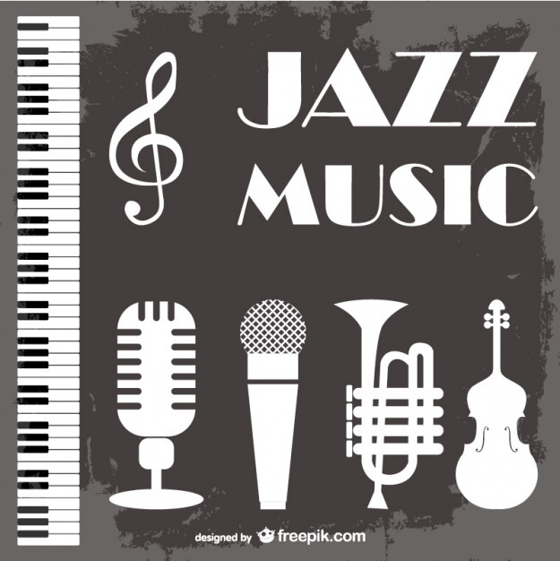 Jazz music vector background  Vector | Free Download