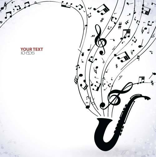 Jazz with Music Note background vector
