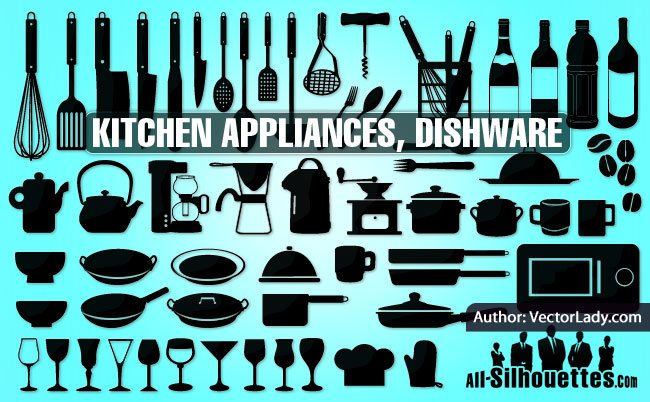 Kitchen appliances, dishware