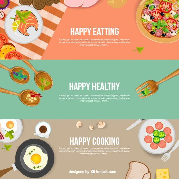 Kitchen banners  Vector | Free Download