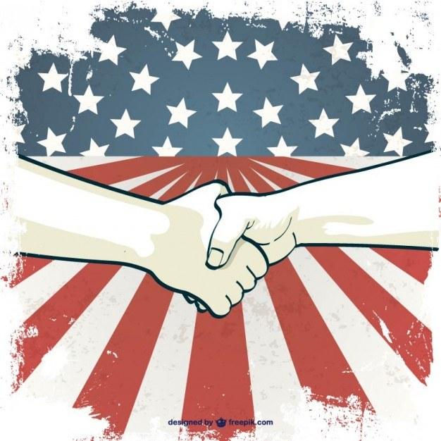 Labor's day hand shake vector