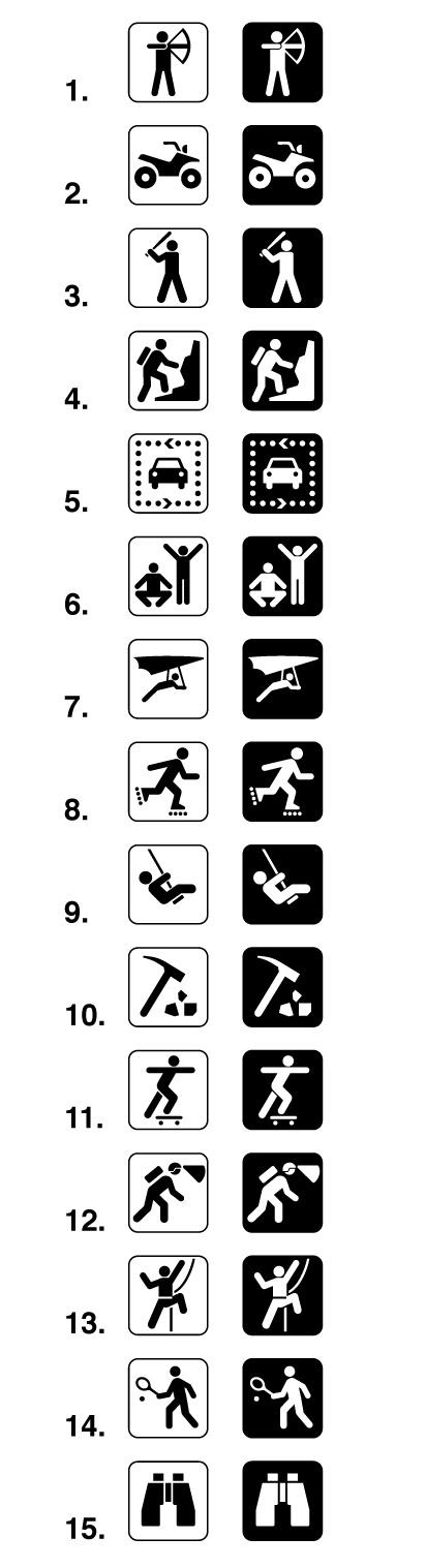 Land Recreation Sign Symbols or Map Symbols | Signs & Symbols