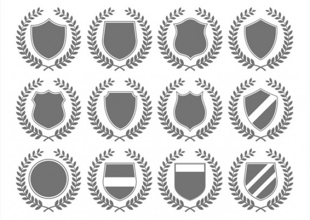 Laurel wreath and shields  Vector | Free Download