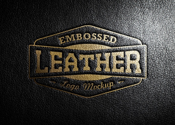 Leather Stamping Logo MockUp | GraphicBurger