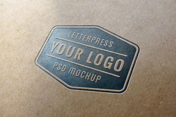 Letterpress Logo MockUp | GraphicBurger