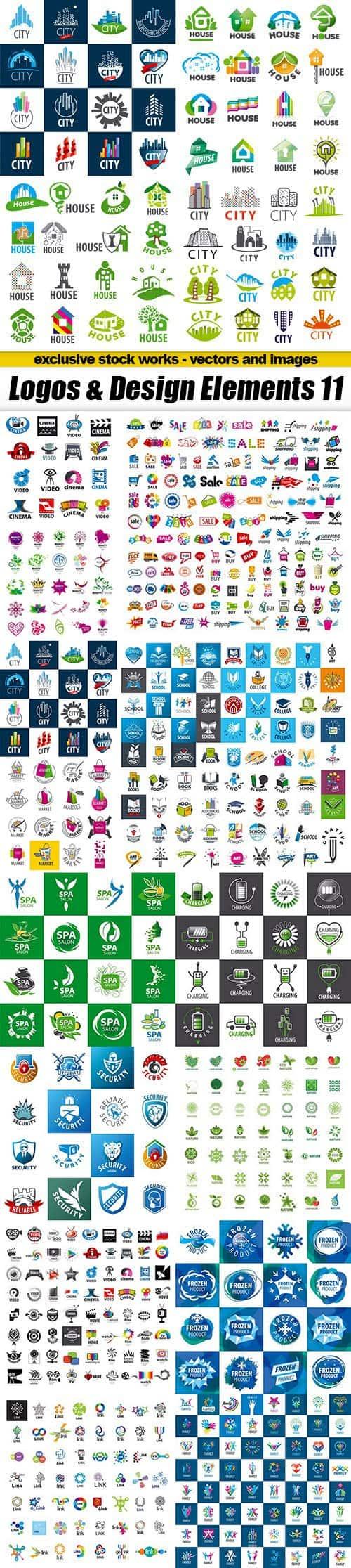 Logos & Design Elements 11 – 15xEPS