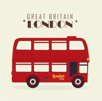 London city bus design vector