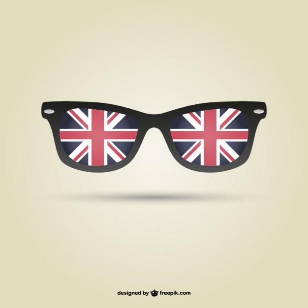 London flag glasses vector