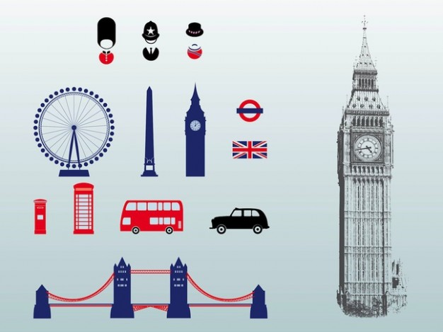 London great britain architecture vectors pack  Vector | Free Download