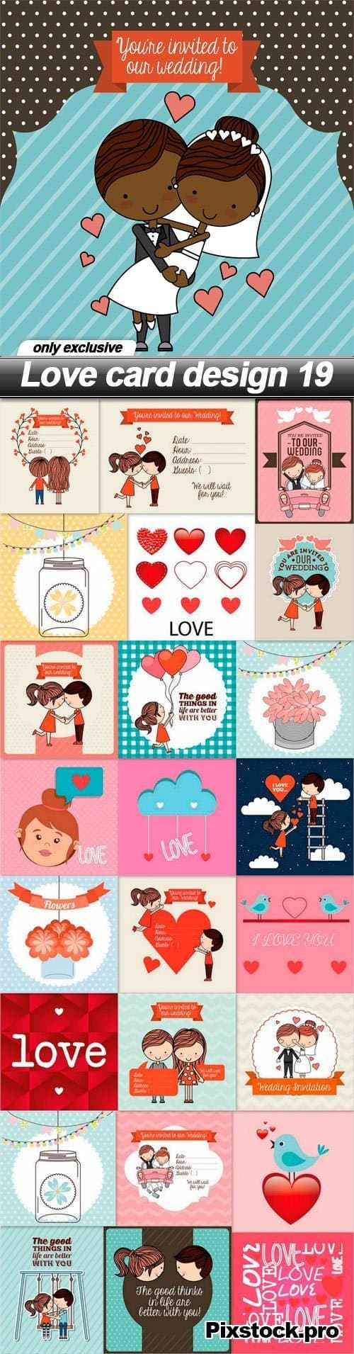 Love card design 19 – 25 EPS