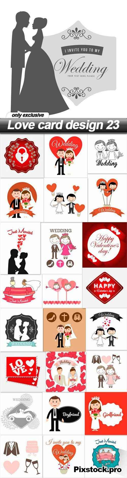 Love card design 23 – 25 EPS