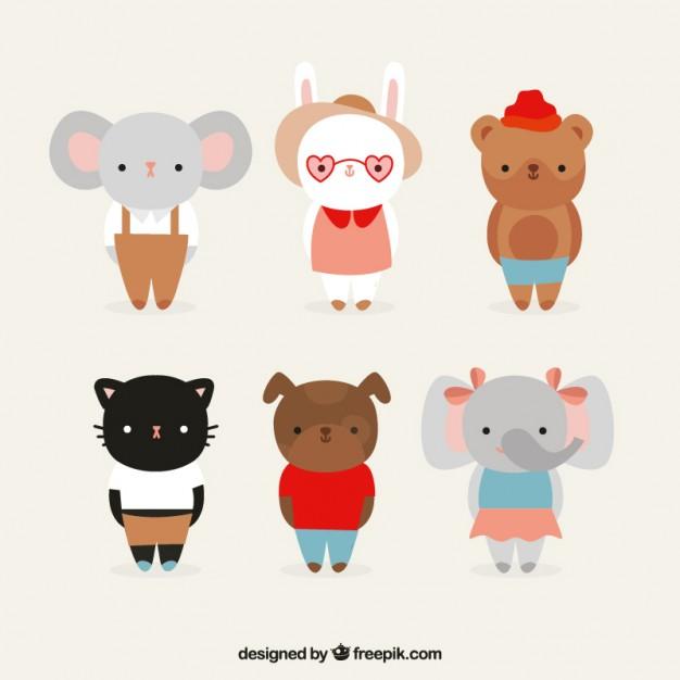 Lovely animals set